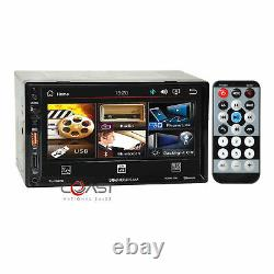 Puissance Acoustik 7 LCD Usb Phonelink Stereo Dash Kit Harness Pour 02-05 Dodge Ram