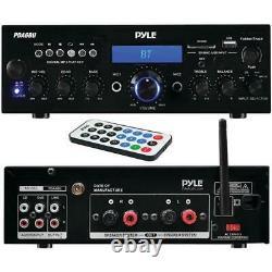 Récepteur Amplificateur Stéréo Bluetooth Pyle Pda6bu 200 Watts Avec Télécommande