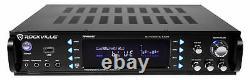 Rockville 1000w Home Theater Bluetooth Receiver+(4) Haut-parleurs Avec Supports Pivotants