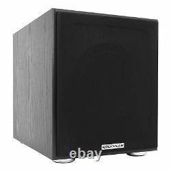 Rockville Home Theater Bluetooth Receiver+eq+(2) Haut-parleurs De Plafond+8 Subwoofer