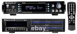 Rockville Rpa60bt 1000w Home Theater Bluetooth Récepteur +2 X 21 Égaliseur Bande Eq