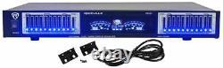 Rockville Rpa60bt Home Theater Bluetooth Récepteur +10 Bande Eq+8 Haut-parleurs De Plafond