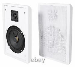 Rockville Rpa70wbt Bluetooth Récepteur De Cinéma Maison + 4 Haut-parleurs Muraux Slim 5,25
