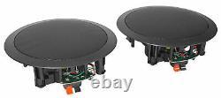 Rpa60bt 1000w Home Theater Bluetooth Récepteur +(2) Haut-parleurs Noirs Dans Le Plafond