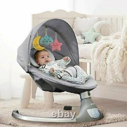 The Nova Baby Swing By Jool Baby Bluetooth Activé, Télécommande, 5 Swing