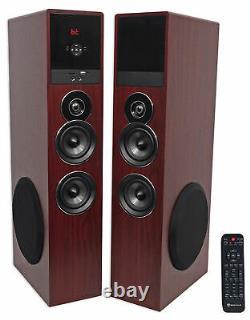 Tower Speaker Home Theater System+8 Sub Pour Samsung Nu6900 Télévision Tv-wood