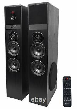 Tower Speaker Home Theater System+8 Sub Pour Sony Smart Television Tv-noir