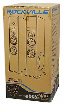 Tower Speaker Home Theater System+8 Sub Pour Sony X900f Television Tv-black