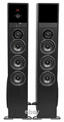 Tower Speaker Home Theater System Avec Sub Pour Samsung Nu7100 Télévision Tv-noir