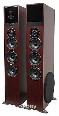 Tower Speaker Home Theater System Avec Sub Pour Samsung Nu7100 Télévision Tv-wood