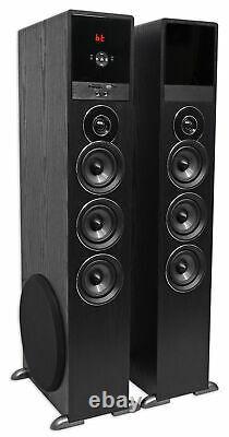Tower Speaker Home Theater System Avec Sub Pour Samsung Q7c Télévision Tv-noir