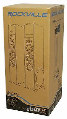 Tower Speaker Home Theater System Withsub Pour Samsung Nu6900 Television Tv-wood