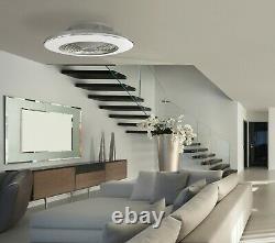 Ventilateur De Plafond Led Light 70w Dimmable Remote App Control Réversible Ventilateur Mural Chaudière