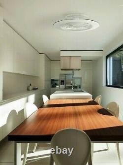 Ventilateur Plafond Led Light 70w Dimmable Remote App Control Réversible Wall Fan Heater