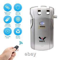 Wafu 019 Serrure De Porte Bluetooth Électrique Avec Télécommande/touche Invisible Smart