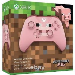 Xbox One Contrôleur Sans Fil Minecraft Pig Edition Microsoft Windows 10 Télécommande